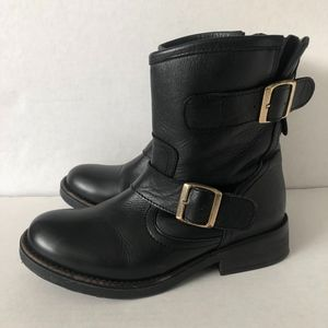 8226b0839c1 Steve Madden  Msfresh  Leather Moto Boots Black 7